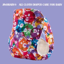 JinoBaby OS Bamboo Cloth Diaper - Fashion Skull happyflute os bamboo velour fitted cloth diaper ai2 onesize no synthetic material to touch baby s skin birth to potty 5 15kg