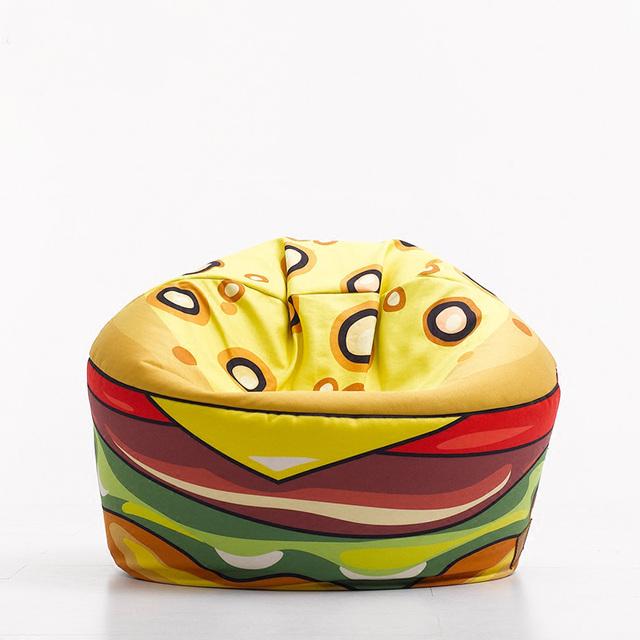 Hamburger preguiçoso saco de feijão saco para crianças