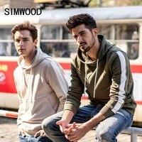 SIMWOOD hip hop hoodies men 2018 autumn new streetwear pullover hoodie cotton contrast color joggers hooded Sweatshirts 180290
