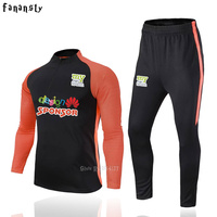 High Quality Football Training Suits Men Winter Finger Clothing Soccer Tracksuit Kits Adult Long Sleeve Sport