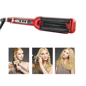 Image 2 - Three Chicken Rolls LCD Ceramic Hair curler Curling Iron Triple Barrel Curling Iron Deep Wave Curler Hair Waver Styling Tools