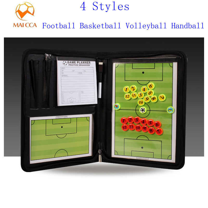 MAICCA Football Tactical Board Pen Payper Multifunction Professional Basketball Coach Board Magnetic Handball Coaching Plate