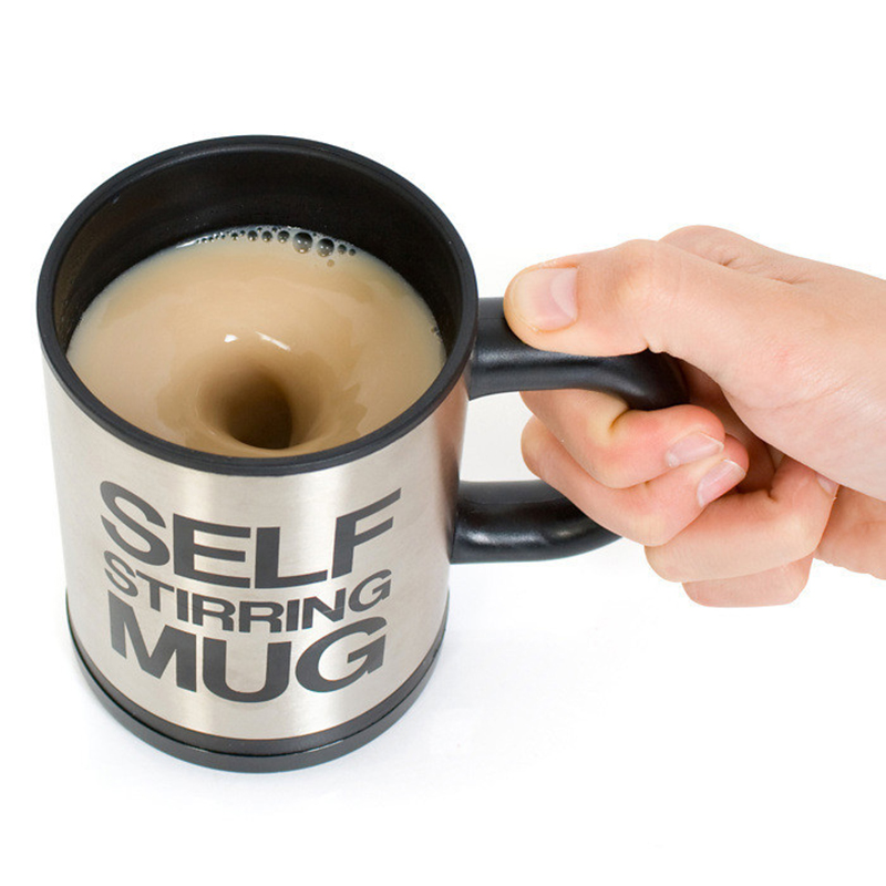 6 Colors 400ML Self Stirring Mug Automatic Electric Blenders Stainless Steel Coffee Makers Milk Tea Milk Mixing Drinking Cups