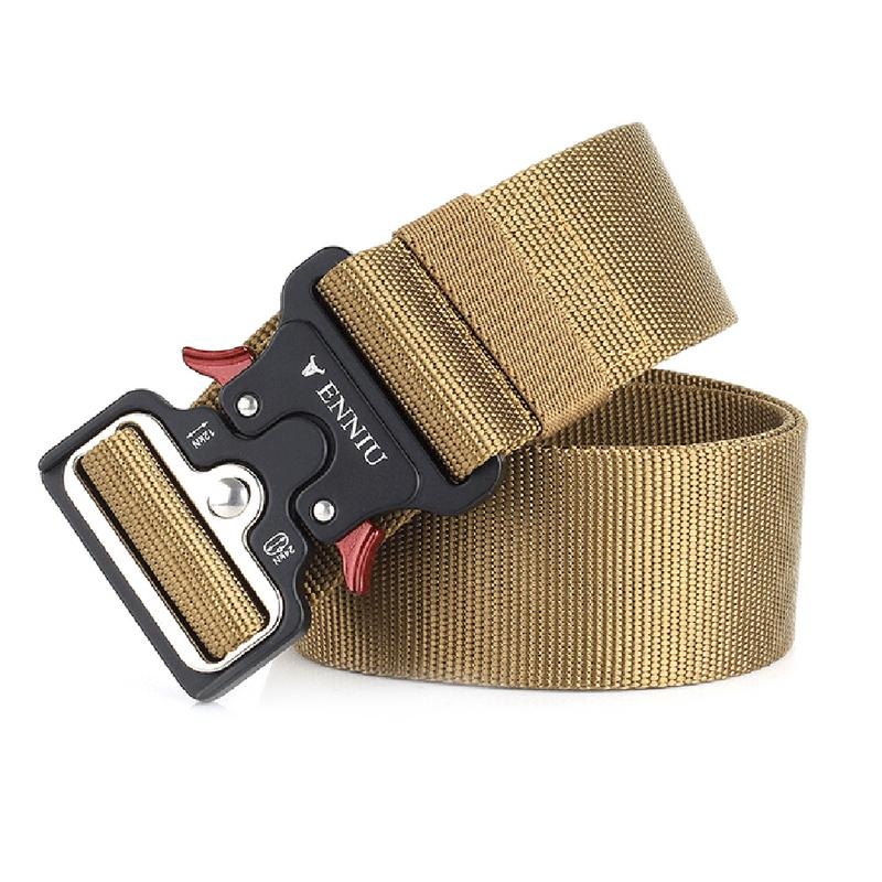 New Cobra Buckle Tactical Belt High Quality Nylon 125cm Casual Braided Belt For Men And Women Military Training Belt fashion alloy stripy embellished automatic buckle belt for men