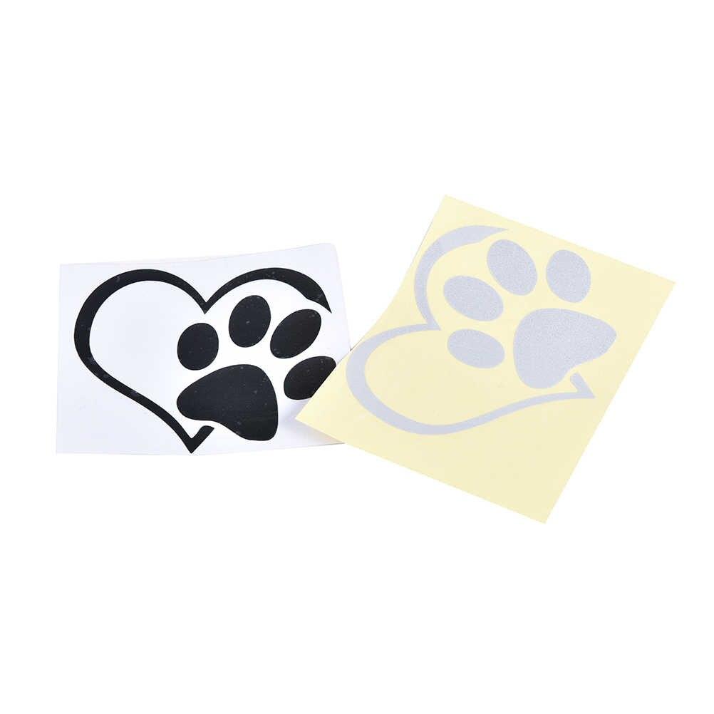 Наклейка на автомобиль грузовик бампер оконная принять хулиган одежда с изображением сердца, кота, собаки ноутбук Лодка Грузовик Авто Бампер, стену Графический сердце Paw виниловые наклейки в виде Фотообоев c переводными картинками