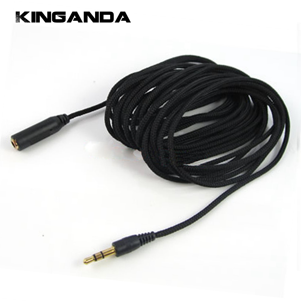 5m 16Ft Headphone Extension Cable 3.5mm Jack Male to Female AUX Cable M/F Audio Stereo Extender Cord Earphone 3.5 mm Cloth Cable цена