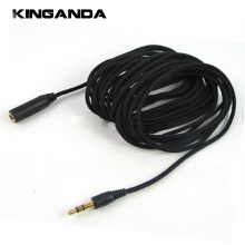 5m 16Ft Headphone Extension Cable 3.5mm Jack Male to Female AUX Cable M/F Audio Stereo Extender Cord Earphone 3.5 mm Cloth Cable