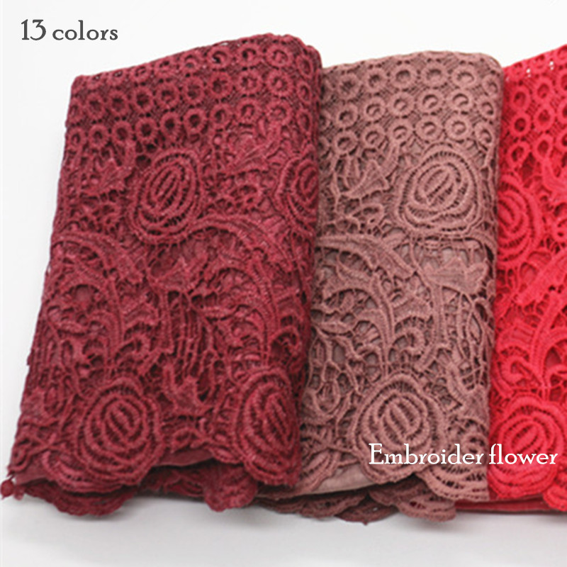High Quality Embroider Flower Scarf Luxury Design Women Scarves Hollow Floral Fashion Muslim Hijab Essential Rose 10pcs/lot
