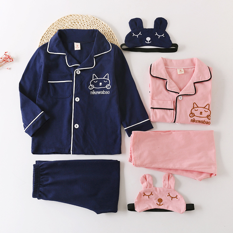 Girls Sleepwear Pyjama Cotton Pajamas baby Boy Pijama Set Nightgown Flannel For Spring Autumn