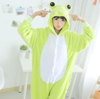 Fashion Cute Frog Adult Onesie Flannel Winter Pajamas Set Cartoon Animal Onesie Sleepwear Jumpsuits Cat Bat