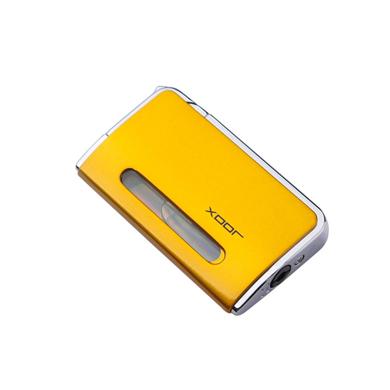 Bussiness Torch Lighter Ultra Thin Turbo Free Fire Jet Butane Cigar Lighter 1300 C Windproof Pipe Lighter Gas Window in Matches from Home Garden
