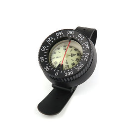 Diving Finger North Needle Underwater Navigation Compass Wrist-strap Night Light Bottom Double Dial