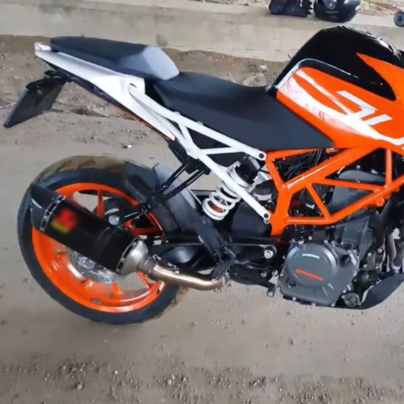 Motorcycle Exhaust Muffler Silencer Middle Link Pipe For KTM Duke 390 250 Rc: Duke 250 Exhaust At Woreks.co