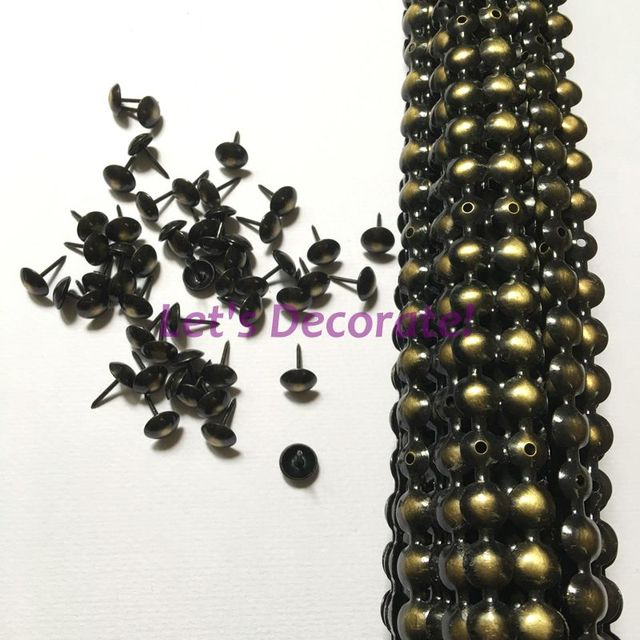 Free Shipping 25meters Lot 11mm Upholstery Tacks Bronze Color Plated