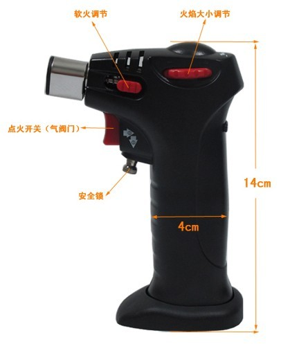 High temperature TaiWan high-quality Safety lock Butane gas torch Professional welding kitchen baking adjustment Flame lighter