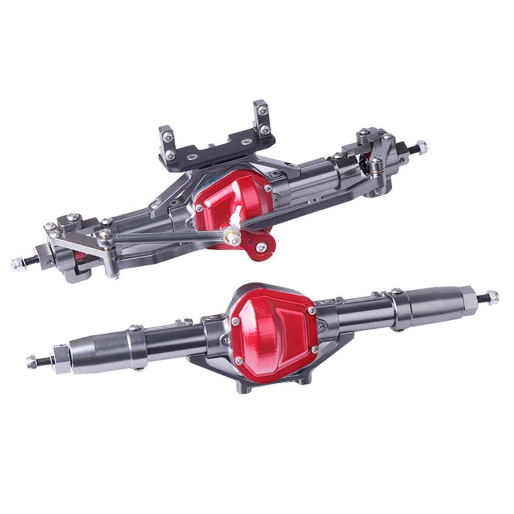 High Quality Rc Car Complete Alloy Front And Rear Axle With Arm CNC Machined For 1:10 Rc Crawler AXIAL SCX10 RC4WD