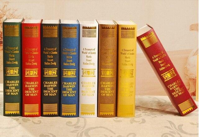 Dekorative Bücher hause studyroom 1 teile/satz gefälschte dekorative buch modell