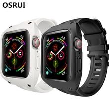 Sport waterproof strap+case For Apple Watch band 4 iwatch 44mm pulseira correa apple watch Bracelet watchband