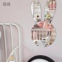 Ins Rabbit Crown Swan Children S Room Decoration Acrylic Mirror Self Adhesive Spot Living Room Bedroom