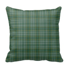 Serious Green Clan Currie Tartan Plaid Pillow Case (Size: 20″ by 20″) Free Shipping