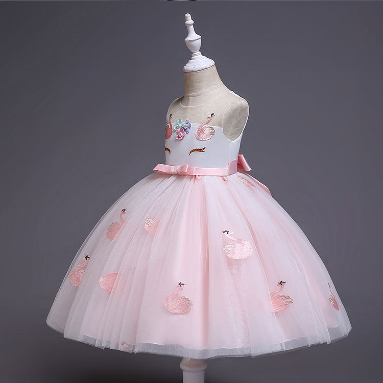 HTB11..EaELrK1Rjy1zbq6AenFXaQ New Unicorn Dress for Girls Embroidery Ball Gown Baby Girl Princess Birthday Dresses for Party Costumes Children Clothing