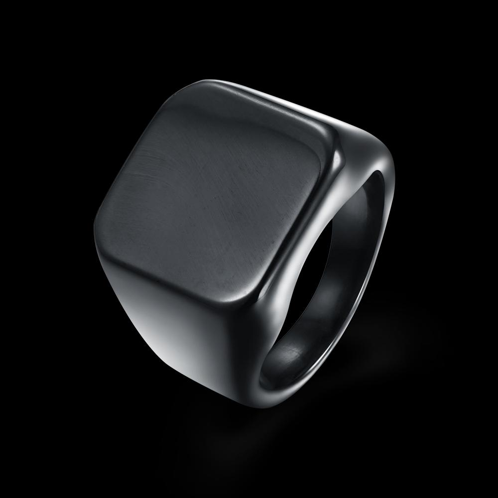 KITEAL exo Titanium Steel Black size 10 7 8 9 engagement ring for male Punk men jewelry bague Wholesale