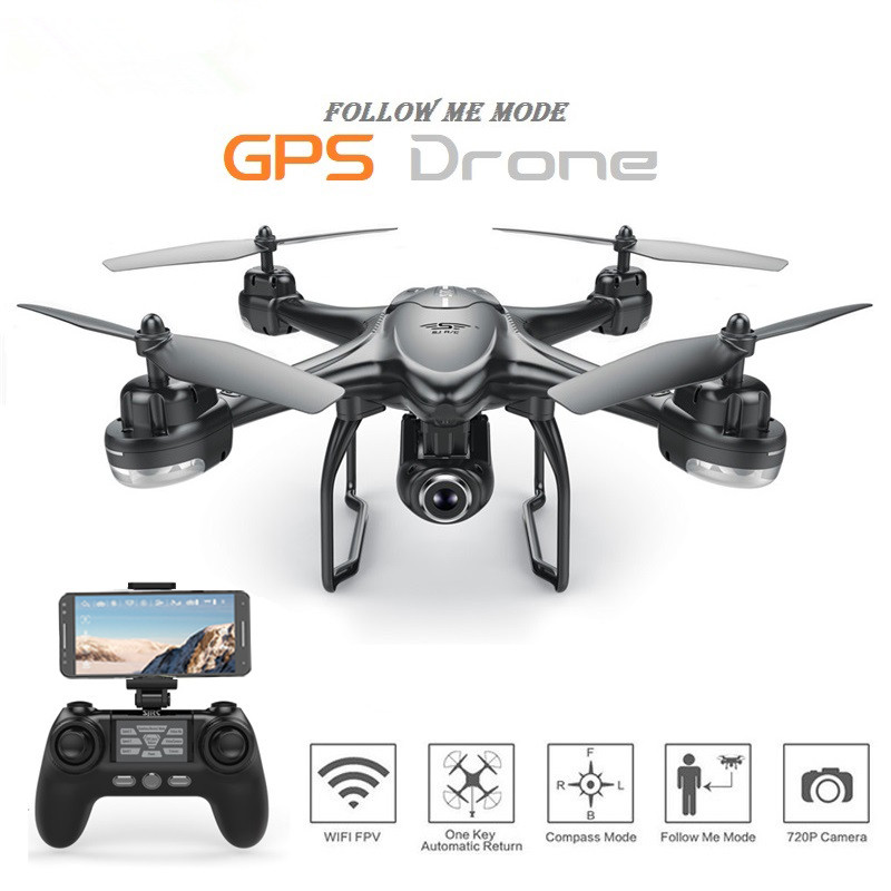 S30W Dual GPS RC Drone with 720P/1080P HD Camera WiFi FPV RC Quadcopter Follow Me One-Key Return RC Helicopter VS S70W X8PROS30W Dual GPS RC Drone with 720P/1080P HD Camera WiFi FPV RC Quadcopter Follow Me One-Key Return RC Helicopter VS S70W X8PRO