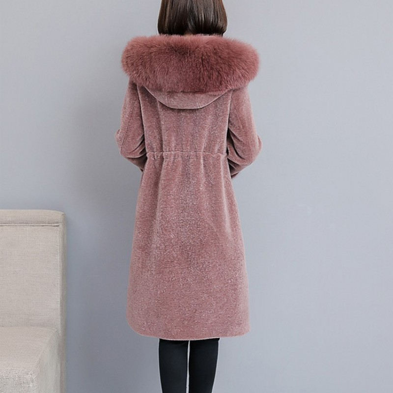 Élégant Capuche Dames Hiver Sweat Poitrine Pardessus 2 En Bureau Fausse Femmes À Unique Slim 3 1 De Fit Col Mi Survêtement Fourrure Occasionnel Long Manteau r8prvO