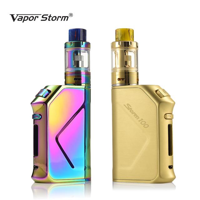 Original 100W Electronic Cigarette Vapor Storm TC Vape Fast Charge Box Mod 3200mah Top Refill Tank 0.2ohm 2mL