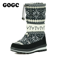 GOGC Russian Famous Brand Winter Boots For Women High Quality Warm Flower Women S Winter Shoes