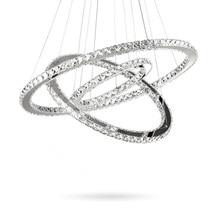 Modern K9 crystal rings chandeliers lights LED ceiling fixture for living dining room lamp restaurant design hanging lighting цены
