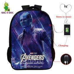 Avengers 16 Cal podróży torba szkolna dziewczyny chłopcy plecaki dzieci Plecak uczeń Plecak dzieci Bagpack Plecak Szkolny prezent 3
