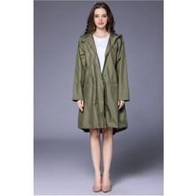 Long Raincoats Portable Water-Repellent Raincoat Women Raincoat Women 2018 Fashion Ladies Rain Coat Breathable Ladies