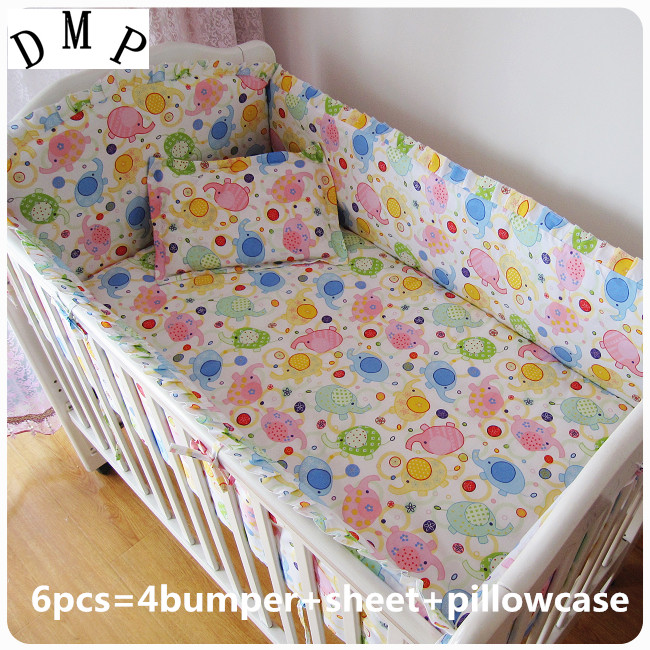 Promotion! 6PCS 100% cotton Baby Sheet baby bedding set unpick and wash the crib piece set (bumper+sheet+pillow cover) promotion 7pcs lion 100% cotton baby bedding set unpick and wash the crib set bumper duvet matress pillow