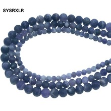 Wholesale Natural Stone Dull Polish Matte Amethysts Crystal Round Beads For Jewelry Making DIY Bracelet Necklace 6 8 10 MM