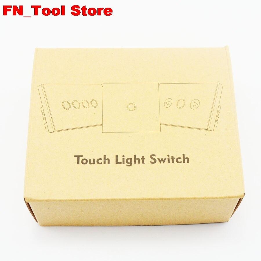 Interrupteur tactile 2 gangs 1 voie US standard panneau de verre cristal simple FireWire interrupteur mural tactile - 6