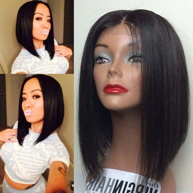 Brazilian Virgin Full Lace Human Hair Wigs Bob Wigs Glueless Full Lace Wigs Straight Lace Front Human Hair Wigs For Black Women