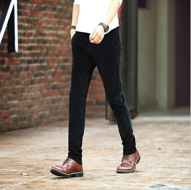 a87050595 Classic Designer Men s Straight Dress Corduroy Pants Male Slim Fit Red  Green Blue Black Brown Black Thick Corduroy Trousers Work-in Casual Pants  from Men s ...