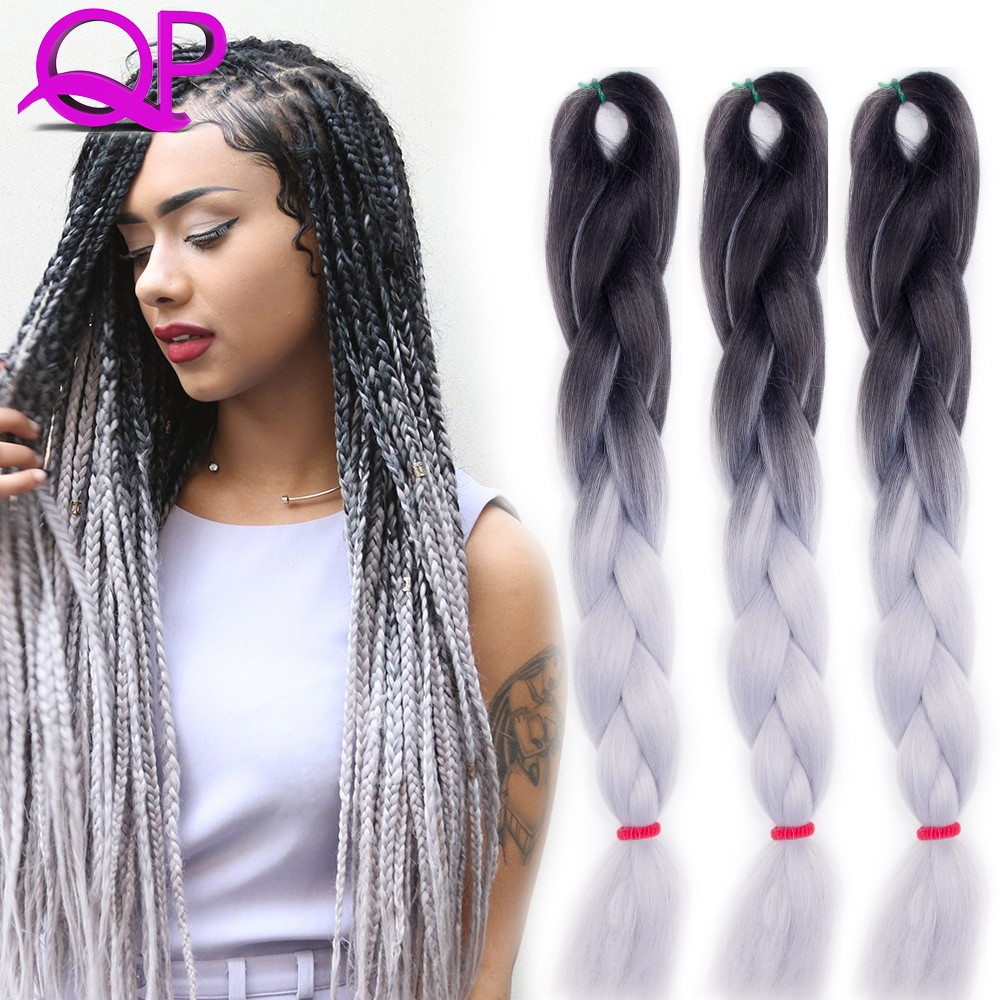 Ombre Kanekalon Braiding Hair 24 100g 1 Kinky Twist Hair
