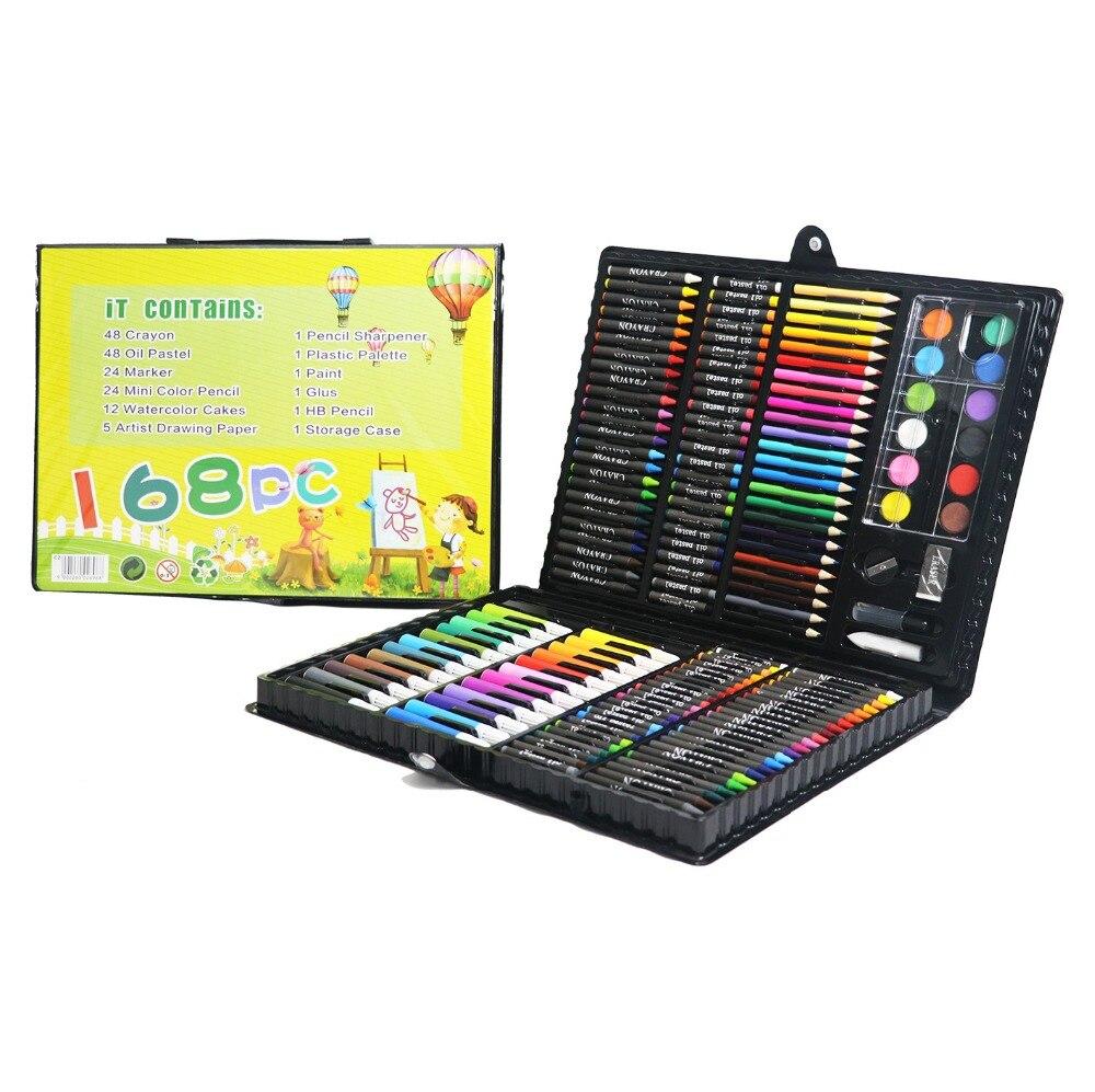 168pcs Drawing Art Set School Painting Pen Marker Watercolor Brush Pen For Kids Gift Box Art Supplies in Art Sets from Office School Supplies