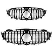 GT-R Style vertical bar ABS Black Grille Fit For BENZ W213 E200 E300 E320