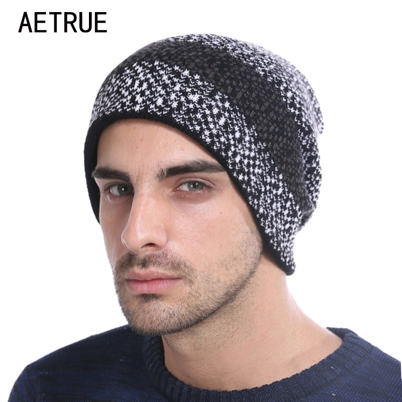 Winter Skullies Beanies Men Winter Hats For Men Caps Women Brand Beanie Plus Ticken Warm Baggy Bonnet Fashion Blalaclava Hat skullies
