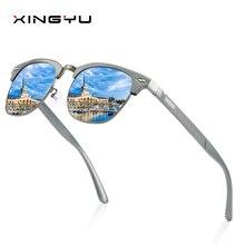 Mens Polarized Sunglasses All aluminum magnesium series Spring hinge Fishing sunglasse Driving glasses Fashion classic style