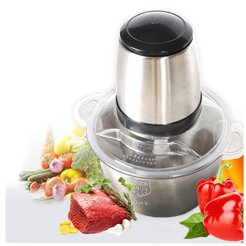 Household Stainless Steel Meat Grinder Food Processor MIXER Food Machine Electric Meat Mincer Blender 220V AU UK EU Plug in Meat Grinders from Home Appliances