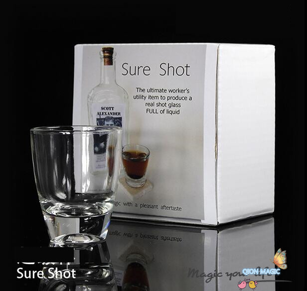 Sure Shot By Scott A (With Silk),Stage,Close Up Magic Tricks,Props,Gimmicks,Party Trick,Magia Toys,Gadget,Joke,illusions,Fun