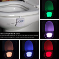 Colorful LED Night Light Motion Sensor Automatic Toilet Hanging Light Bowl with Color Setting Battery-Operated