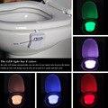 Colorida de La Noche del LED Sensor de Movimiento de Luz Automático Higiénico Colgando Luz Bowl con Ajuste de Color Con Pilas