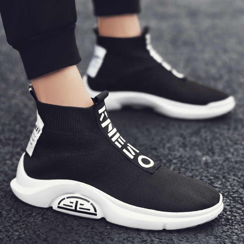 Новинка 2019 года; повседневная мужская обувь; дышащая осенне-летняя сетчатая обувь; кроссовки; модная дышащая легкая мужская обувь