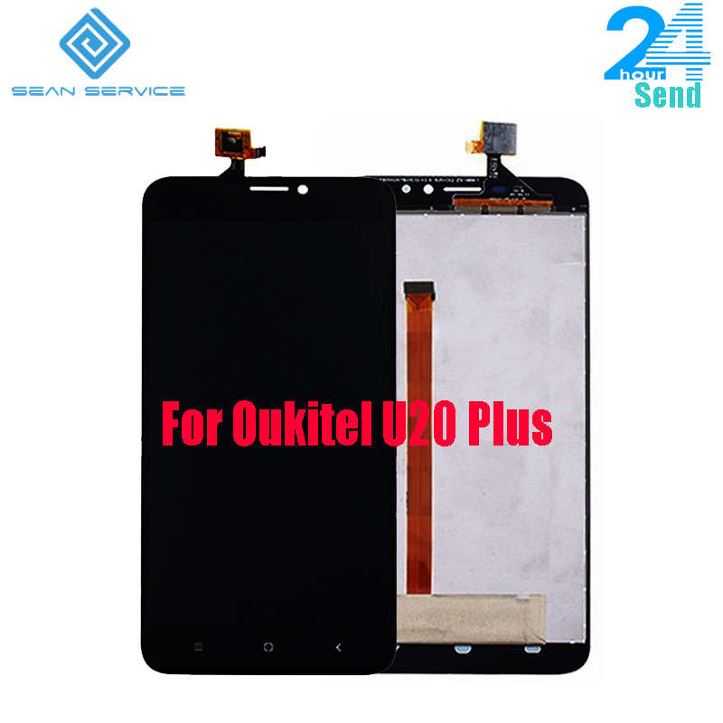 For Original Oukitel U20 Plus Original LCD Display+Touch Screen Digitizer AssemblyU20 PLUS Quad Core 5.5 Inch Phone LCD Display
