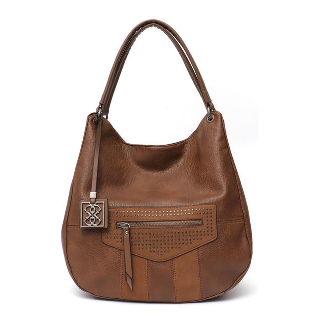 c7b1613814 ... Women Shoulder Hobo Bag Messenger Bag Large Soft Zip Pocket Causal Tote  Bag 223.7 Lei. Black. Khaki. Bronze. Tan